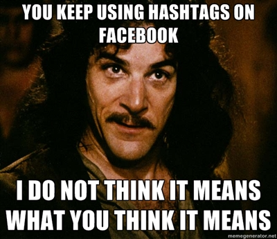 facebook hashtag facebook ← that's not weird anymore opusfidelis