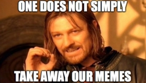 one does not simply outlaw memes