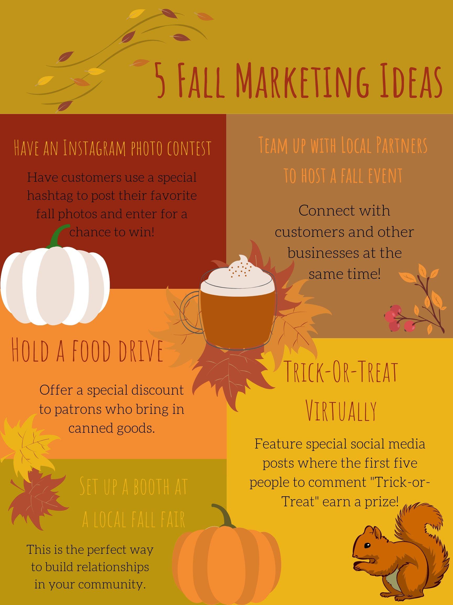 5 Fall Marketing Ideas infographic