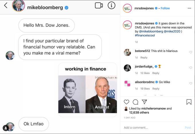Bloomberg Instagram Meme