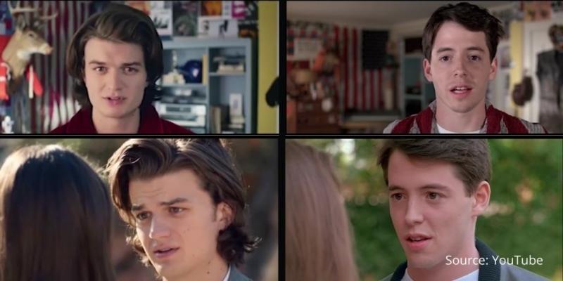 Ferris Bueller commercials side by side