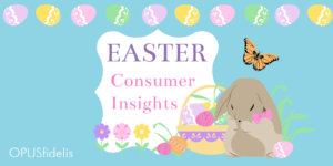 Easter Bunner and egg basket with flowers