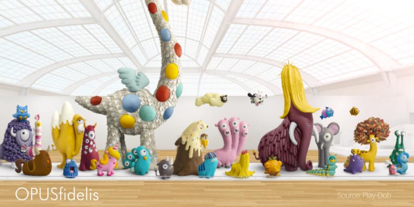 Play-doh emerging species creatures