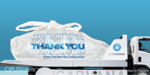 carvana delivers car in giant take-out bags