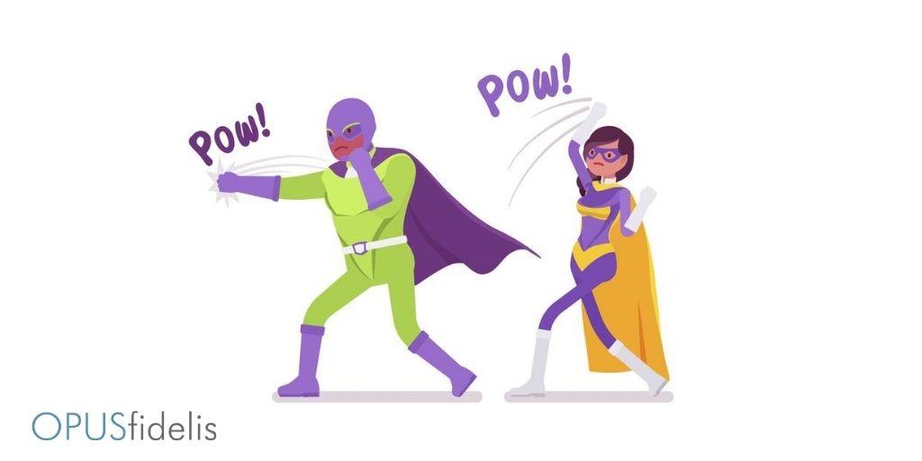 cybersecurity protection superheros pow