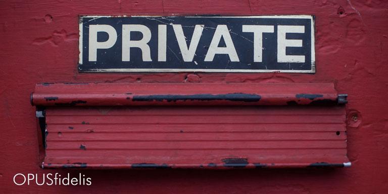 Donors' privata data
