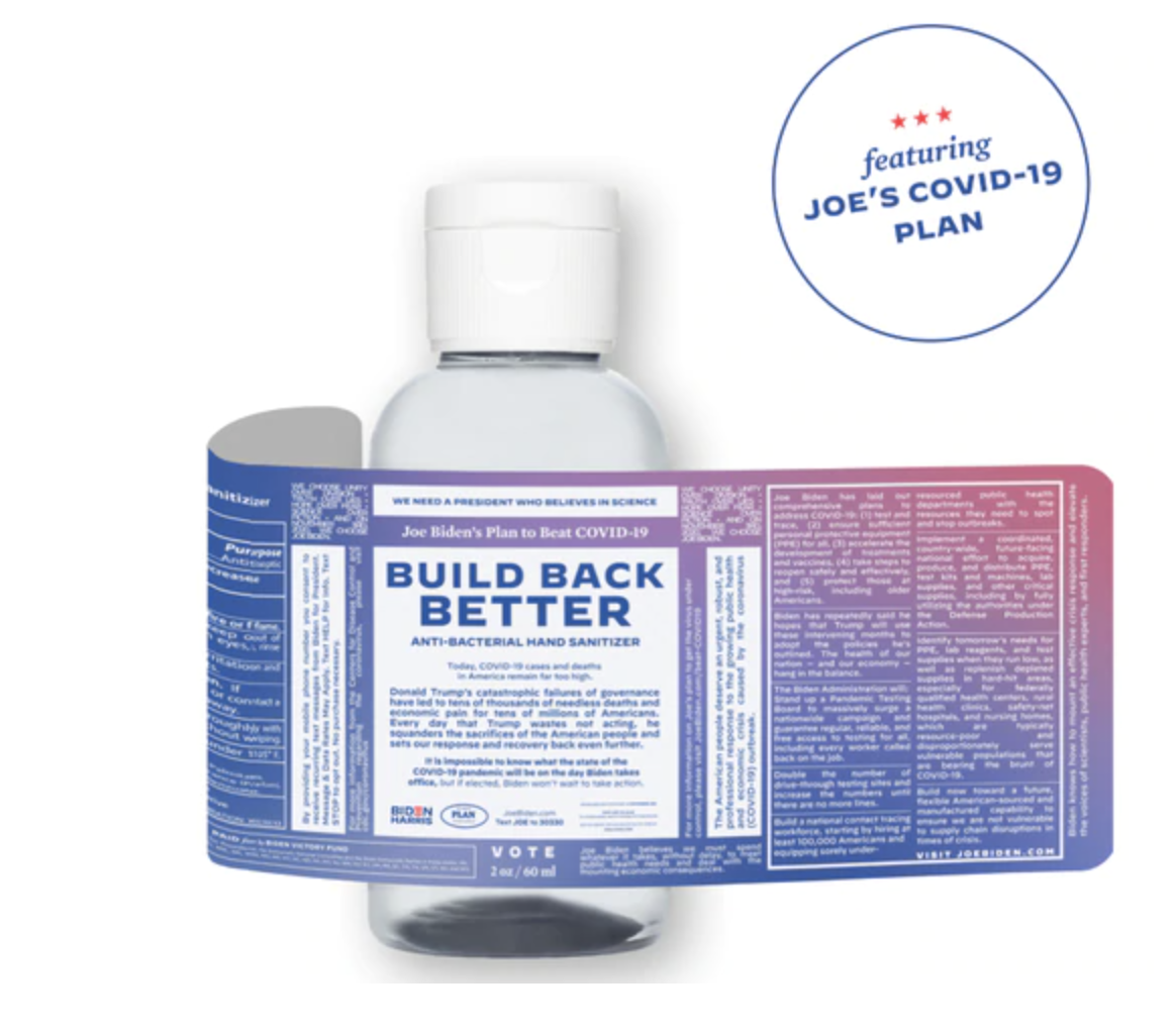 Joe Biden Hand Sanitizer