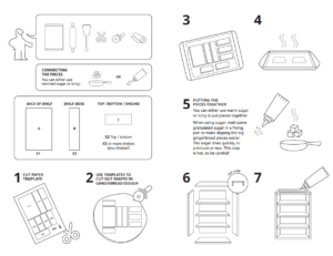 gingerbread furniture instructions