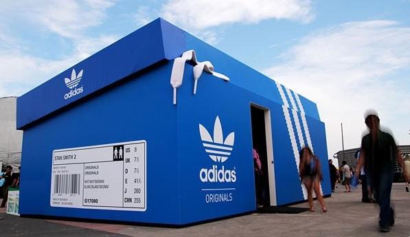 Adidas pop up store blue box